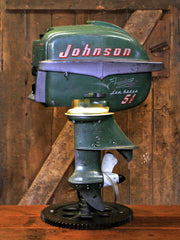 Steampunk Industrial / Antique Johnson Boat Motor / Nautical / Marine / Cabin / Lamp 2693