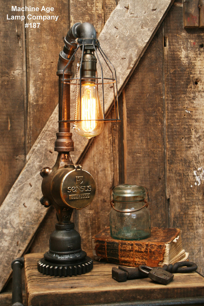 Steampunk Lamp Antique Water Meter And Gear Base 187 Sold