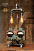 Steampunk Industrial / Sun Automotive Meter / Charger / Chicago / Lamp #1518