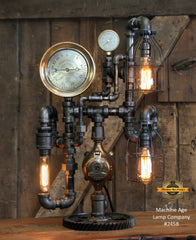 Steampunk Industrial / Steam Gauge Lamp / Camden/ Gear / Lamp #2458