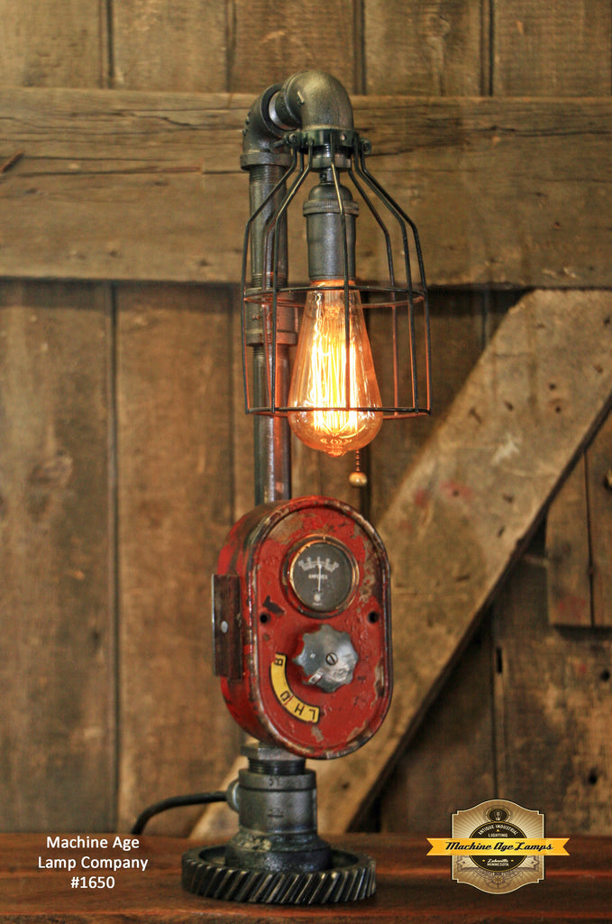 Steampunk Lamp, Antique Farmall Tractor Dash Farm Lamp #1650 sold
