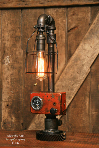 Steampunk Industrial Lamp / Tractor / Farm / Allis Chalmers / #1237