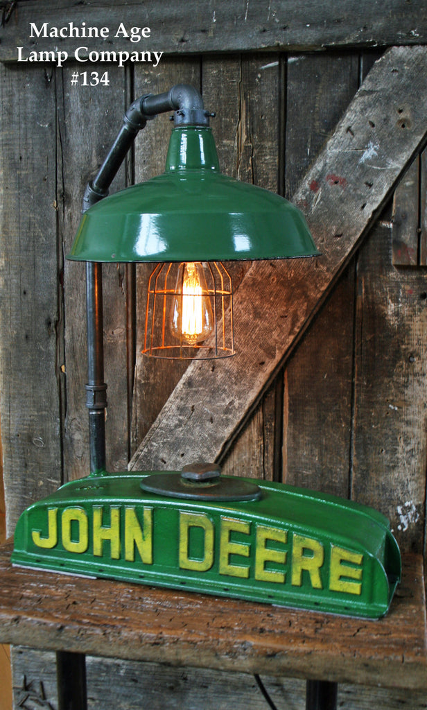 Steampunk Lamp, Antique John Deere Tractor Radiator Farm, #134 - SOLD
