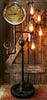 Steampunk Industrial Floor Lamp, Steam Gauge #411
