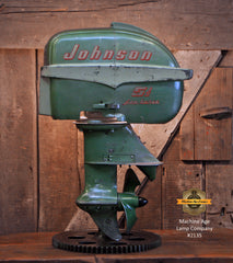 Steampunk Industrial / Antique Johnson Boat Motor / Nautical / Marine / Cabin / Lamp #2135
