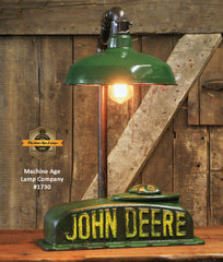 "Steampunk Industrial Lamp, Antique John Deere Farm Tractor ""B"" Lamp #1730"
