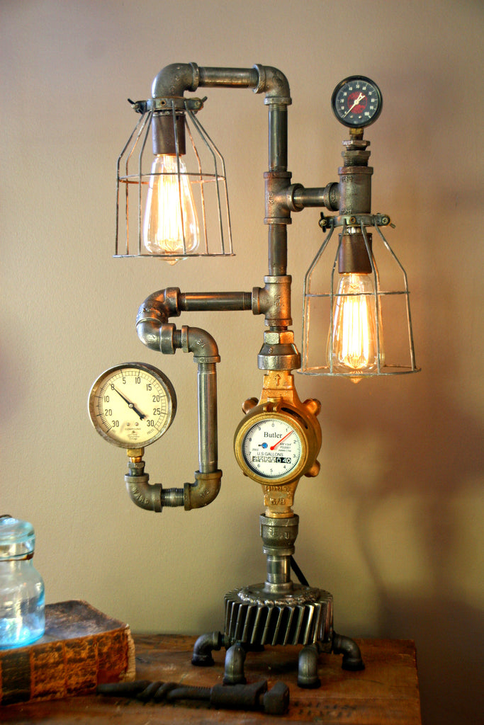 Steam Gauge Plumbing Lamp By Machine Age Lamps