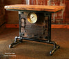 Industrial, Barn wood Steam Gauge Table, Lamp Stand  #822