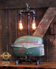 Steampunk Industrial / Boat Motor / Johnson / Nautical / Marine / Cabin /  Lamp #2596 sold