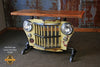 Industrial Antique Jeep CJ Military Willys Grille Table, Console, lamp Stand #1465