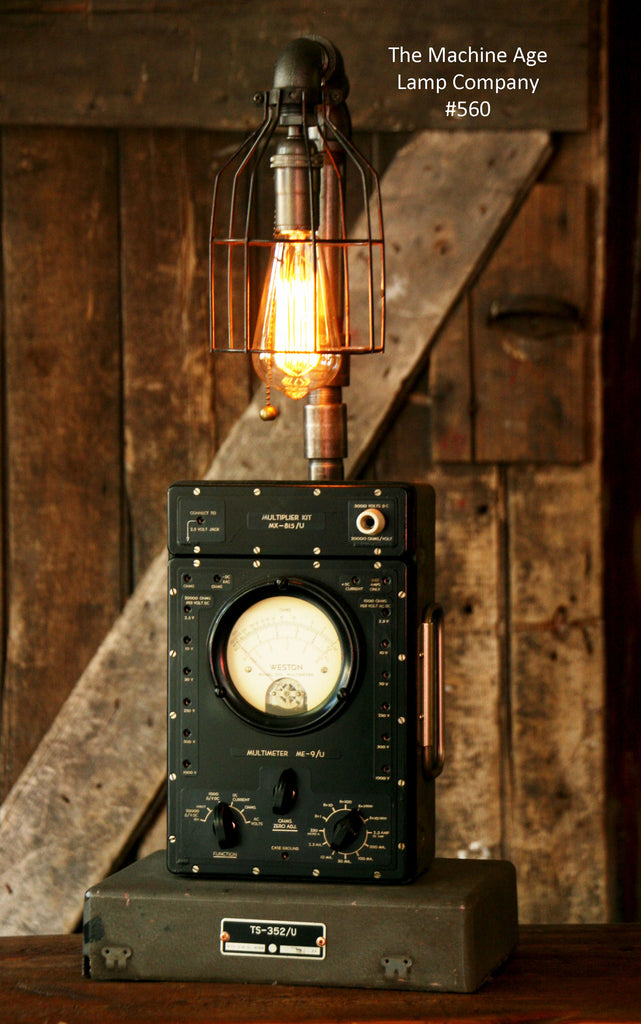Steampunk Lamp Antique Army Military Signal Cops And Gear
