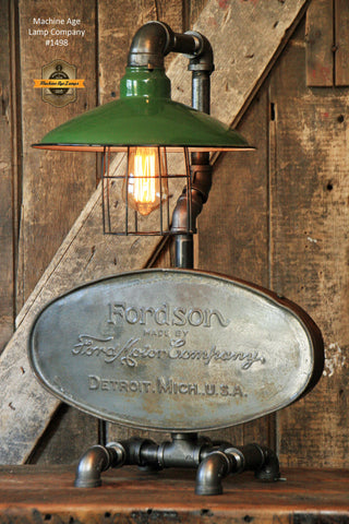 Steampunk Industrial Lamp / Farm / Tractor / Antique Fordson Tank / #1498 - SOLD