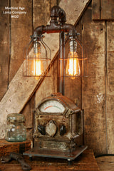Steampunk Lamp, Antique Steam, Ship, Nautical, Light  #420 - SOLD