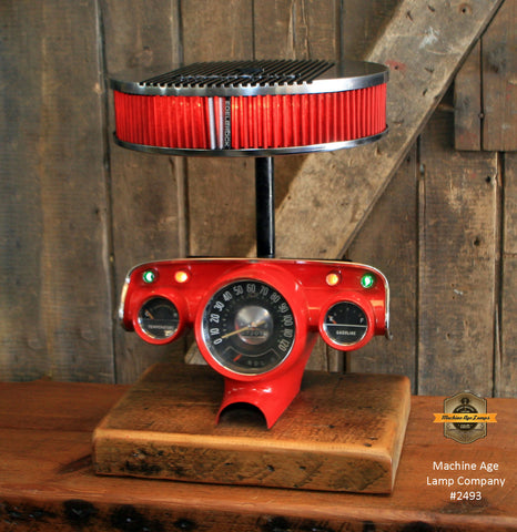 Steampunk Industrial / Antique 1957 Chevy Bel Air Dash / Automotive  / Edelbrock / Hot rod / Lamp #2493