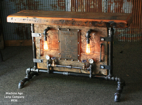 Steampunk Industrial Antique Jeep Willys Grille Table