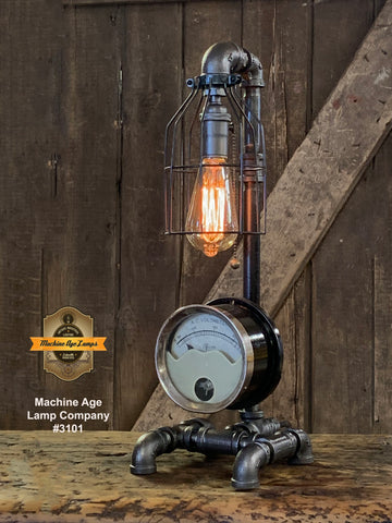 Steampunk Industrial / Antique Electrical Meter / Gear / Lamp /  #3101 sold