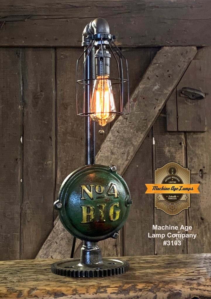 Steampunk Industrial / Antique John Deere Wheel Hub / Gear / Lamp #3103