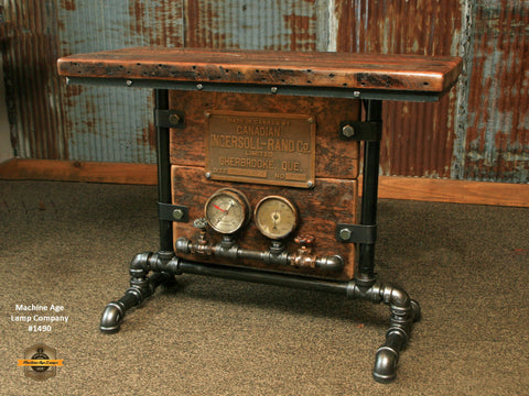 Steampunk Industrial Table / Console / Ingersoll Rand / Mining / Table #1490
