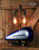 Steampunk Industrial Lamp,Motorcycle Gas Tank #1221 sold