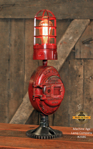 Steampunk Industrial Machine Age Lamp / Fireman / Police / Antique Call box / Alarm / Lamp #2586