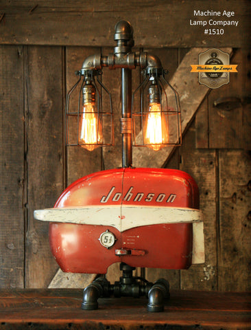 Steampunk Industrial / Boat Motor / Nautical / Marine / Cabin / Lamp #1510