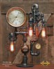 Steampunk Industrial Lamp / Steam Gauge / Gear / NY / Lamp #1716