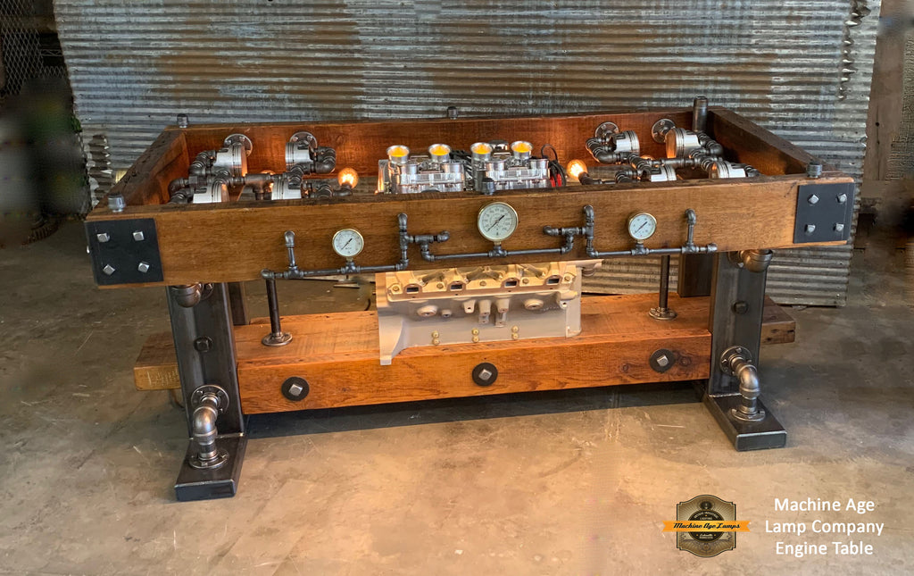 Industrial / Barn wood / Steam Gauge  / Shelby 427 FE Engine / Table ford Shelby / Automotive  /   #10000