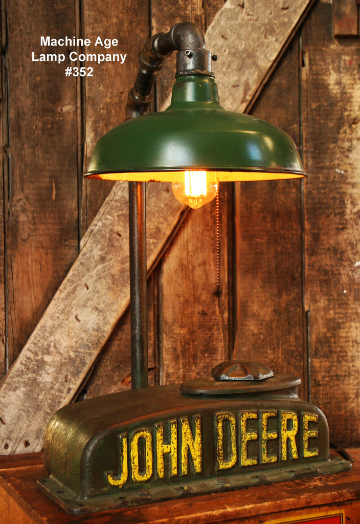 Steampunk Industrial Lamp Antique John Deere Farm Tractor