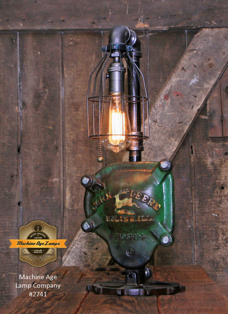 Steampunk Industrial / John Deere Gear Case Cover / Gear / Farm / Lamp #2741