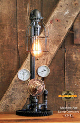 Steampunk Industrial Lamp / Antique Welding Regulator / Lamp #2481