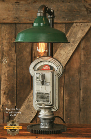 Steampunk Industrial / Parking Meter / Shade / / Lamp #1487