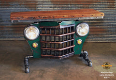 Steampunk Industrial / Automotive / Original vintage 50's Jeep Willys Grille / Table Sofa Hallway / Table #2674