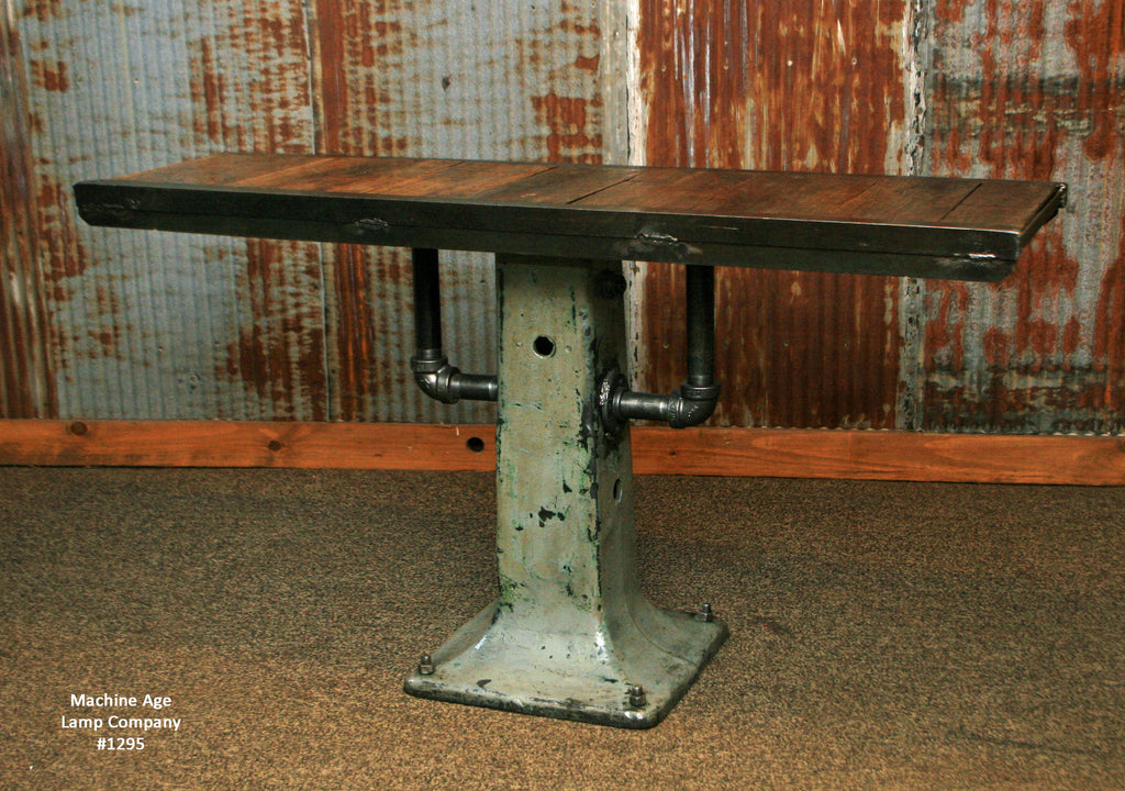 Steampunk Industrial Table, Console, Coffee, Pub , #1295