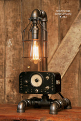 Steampunk Industrial / Antique Electrical Meter / Gear / Lamp / #1263 - SOLD
