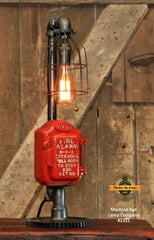Steampunk Industrial Machine Age Lamp / Fireman / Police / Antique Call box / Alarm / Lamp #2326