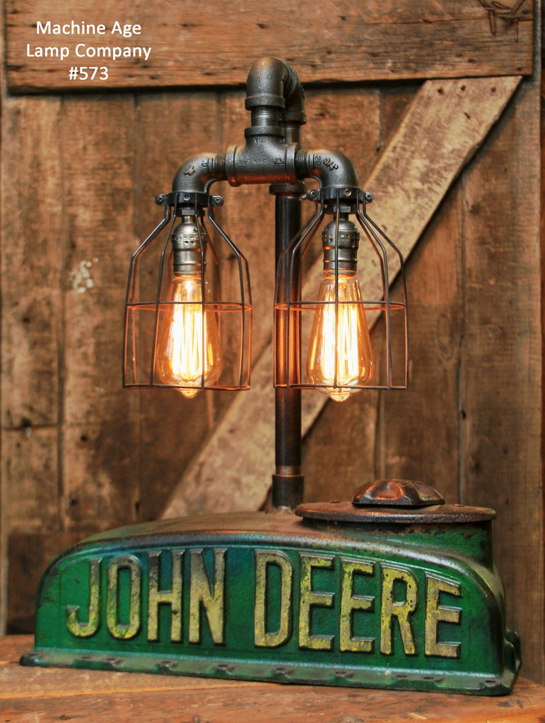 Vingage John Deere Table Lamps : Steampunk industrial lamp antique john deere quot a farm