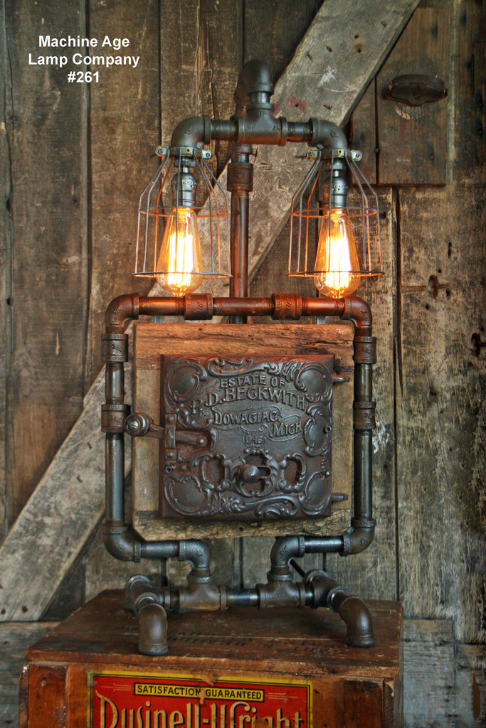 Steampunk Industrial Lamp, Barn Wood Re-Claimed - #261 - SOLD