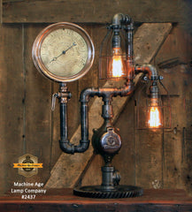 Steampunk Industrial / Locomotive / Steam Gauge / Trail / Main / Lombard Log Hauler / Lamp #2437