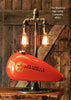 Steampunk Industrial Lamp, Harley Davidson Motorcycle Gas Tank #591 - Sold