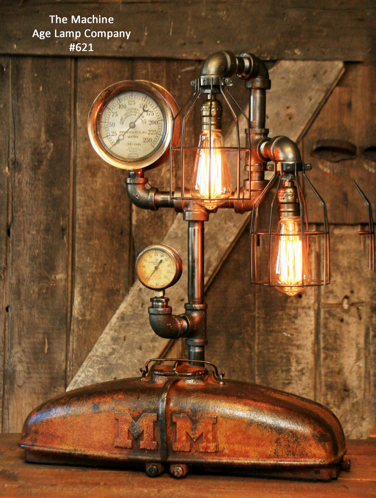 Steampunk Lamp Industrial Mm Tractor Light Farm