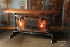 Steampunk Industrial, Lighted Barn wood Furnace Door Table, Console #966