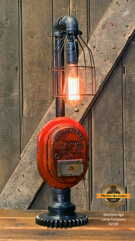 Steampunk Industrial Machine Age Lamp / Fireman / Police / Antique Call box / Alarm / Lamp #2537