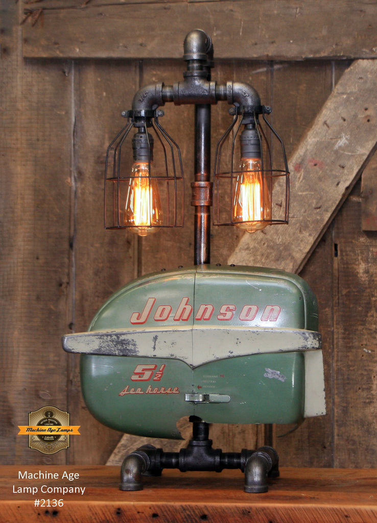 Steampunk Industrial / Boat Motor / Nautical / Marine / Cabin / Lamp #2136 sold