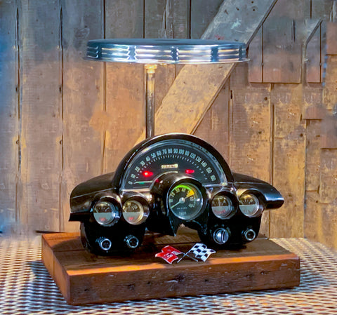 Steampunk Industrial / Corvette / Antique Instrument Panel / Automotive / 1958-1962 / Lamp #2690