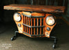 Copy of Steampunk Industrial Table, Jeep Willys Console Table, #946 - SOLD