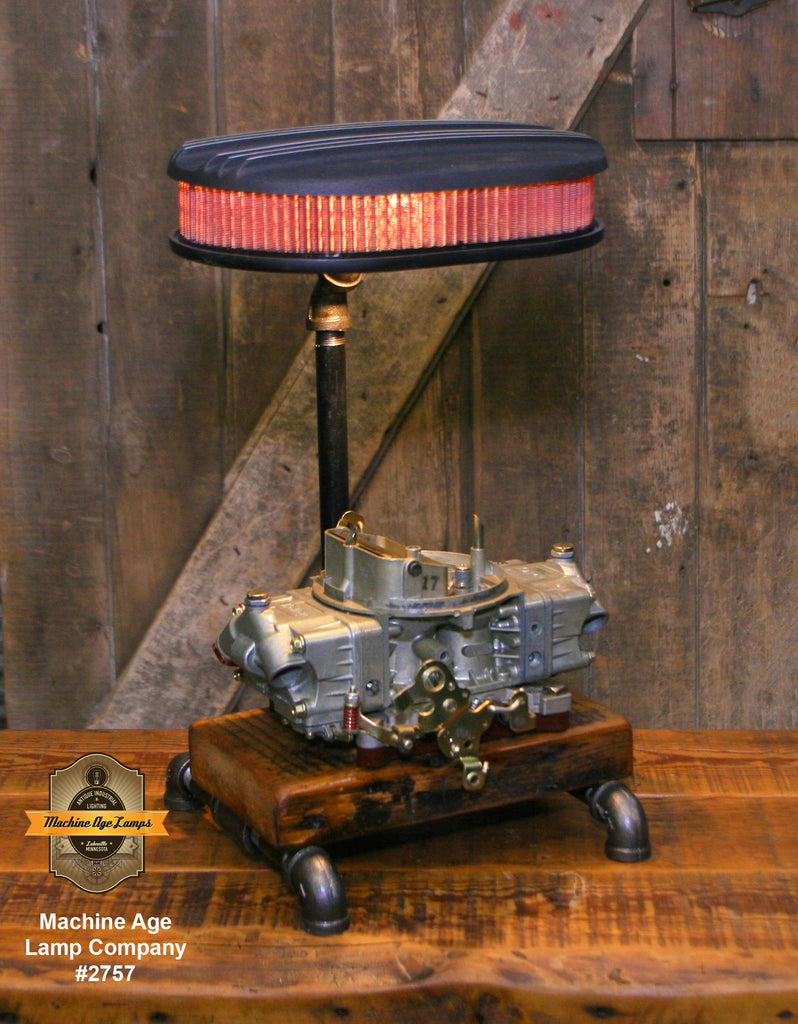 Steampunk Industrial / Vintage Holley Carburator / Automotive  /  Hot rod / Lamp #2757