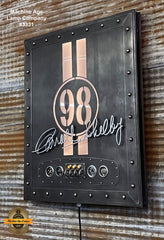Steampunk Industrial / Carroll Shelby / Wall Sconce Art /  Automotive / #2 of 25 /  #3331
