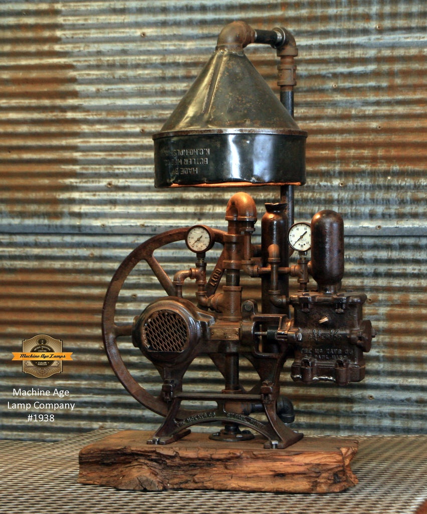 Steampunk Industrial / Antique Mckays Well Pump / St MN / Barnwood / #1938 sold
