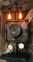 Steampunk Industrial Lamp, Weston Meter Steam Gauge  #389 sold