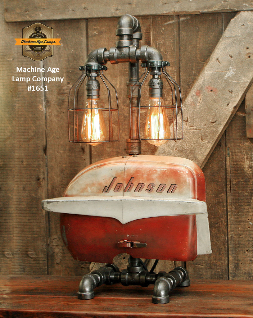 Steampunk Industrial / Boat Motor / Nautical / Marine / Cabin / Lamp #1651 sold